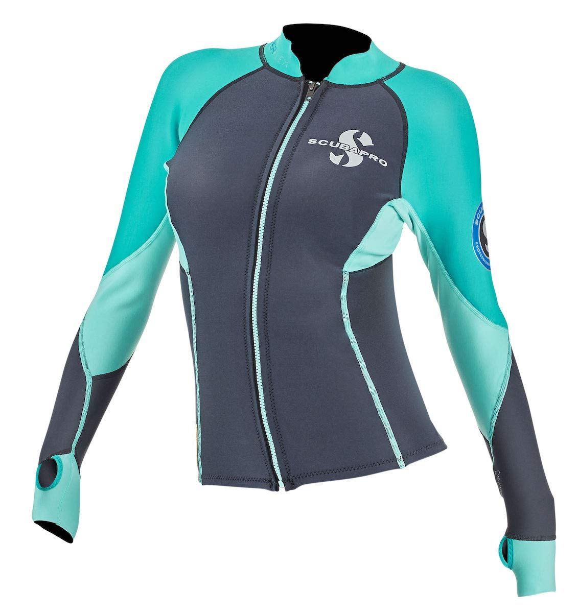 Scubapro Women's 1.5mm Everflex Long Sleeve Rash Guard (Teal, X-Small)