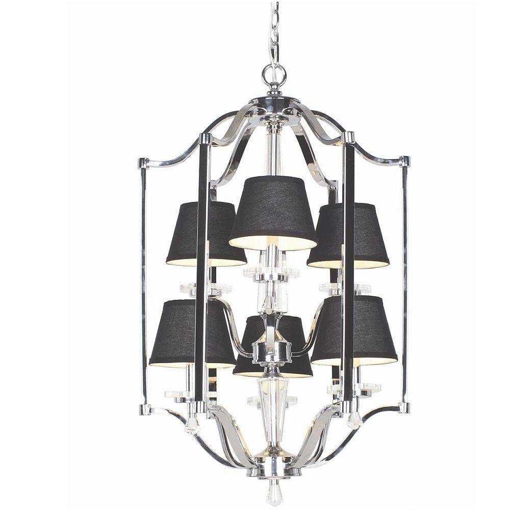 Elora Collection 6 Light Chrome Lantern Chandeliers Com