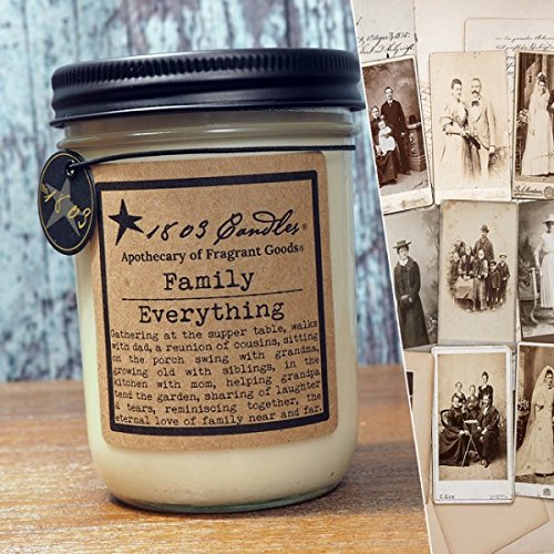 1803 Candles - 14 oz. Jar Soy Candles - (Family Everything)