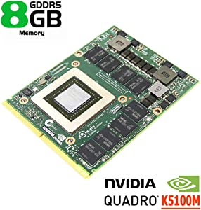 Genuine New 8GB Graphics Video Card Laptop GPU Upgrade, for Dell Precision M6700 M6800 Mobile Workstation Notebook PC, NVIDIA Quadro K5100M GDDR5 8 GB N15E-Q5-A2, MXM VGA Board Replacement Parts