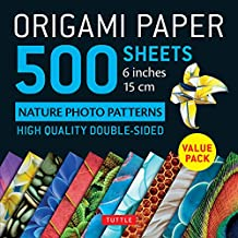 """Origami Paper 500 sheets Nature Photo Patterns 6"""" (15 cm): Tuttle Origami Paper: High-Quality Double-Sided Origami Sheets Printed with 12 Different Designs: Instructions for 7 Projects Included"""