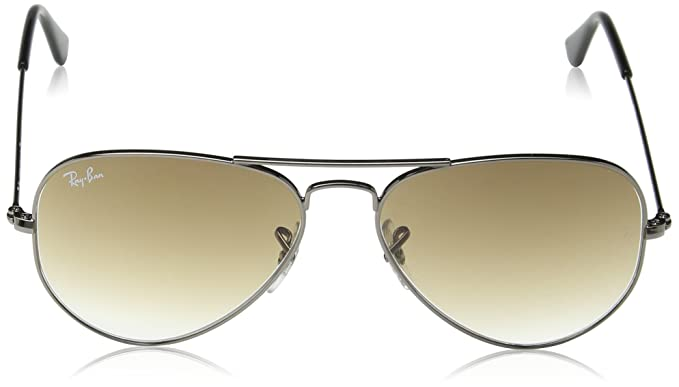 Ray-Ban Aviator 55mm Metal Sunglasses RB3025 004 51-5514 - Gunmetal Crystal  Brown  Ray-Ban  Amazon.in  Clothing   Accessories dffcb0fc8172