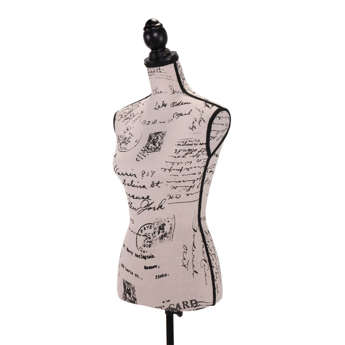 JAXPETY Female Mannequin Torso Clothing Display W//Black Tripod Stand New Mix Color Digital