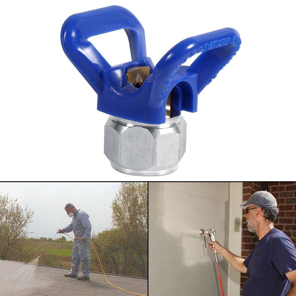 Fdit Buse de pulv/érisateur sans air Accessoire de Peinture Outil Universe pulv/érisation de Peinture Pistolet Buse Remplacement Outil A/érosol Bleu