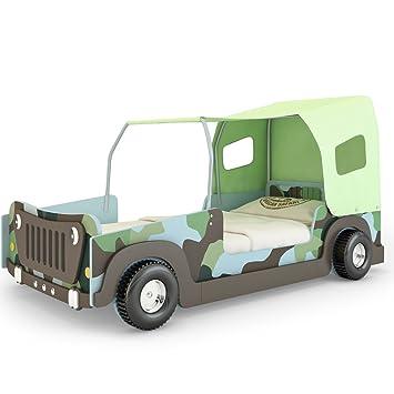 Kinderbett auto grün  Autobett Bett Kinderbett (Jeep Grün): Amazon.de: Küche & Haushalt
