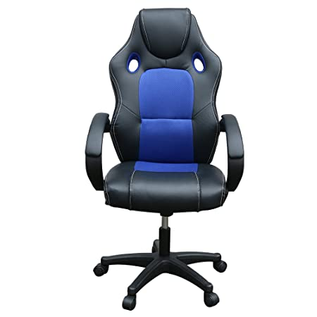 Panana Office Chair Racing Sports Car Seat Gaming Armchair Computer  Executive Chairs (Blue)