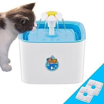 Konesky Fuente de agua potable para mascotas, dispensador de agua de circulación eléctrica automática dispensador