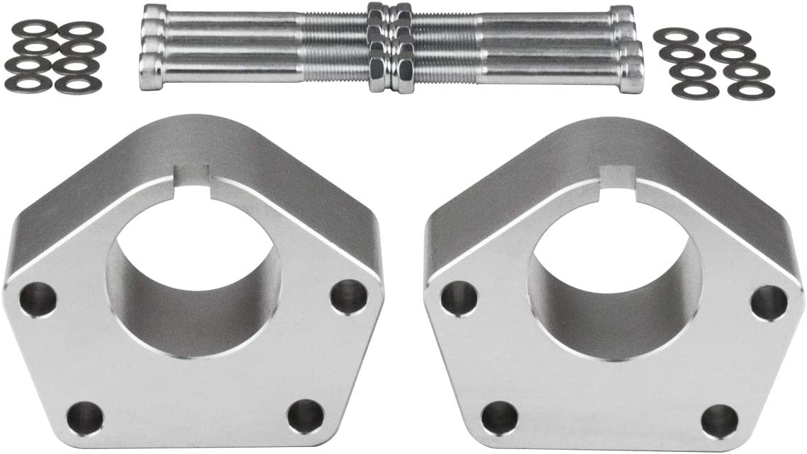 Liftcraft 3 Front Suspension Lift for 86-95 Toyota IFS 4Runner Toyota IFS Pickup 4WD 93-98 Toyota IFS T100 4WD 2PC Silver Aircraft Billet Ball Joint Lift Spacers