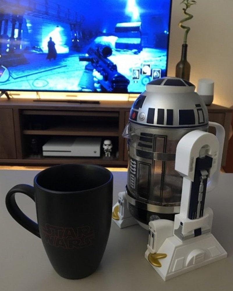 cr2 C de mmp Star Wars R2-D2 Cafetera de émbolo (per mano ...
