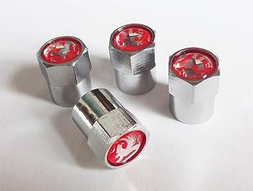 Juego de tapones para válvula de rueda de coche Vauxhall (Opel) Corsa, Nova, Astra, Insignia, etc.: Amazon.es: Coche y moto