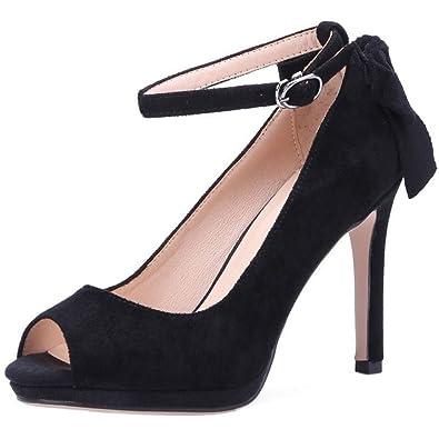 Zanpa Damen Moda Schuhe mit Absatz Peep Toe