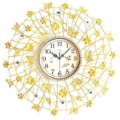 (Large Wall Clock Metal Butterfly Flower Decorative Fancy Wall Clock Designs)