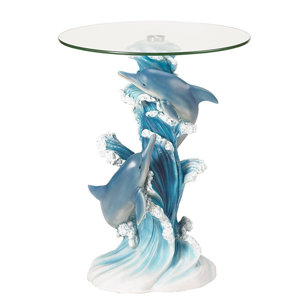 Koehler SS-KHD-38425 24'' Playful Dolphins Accent Table