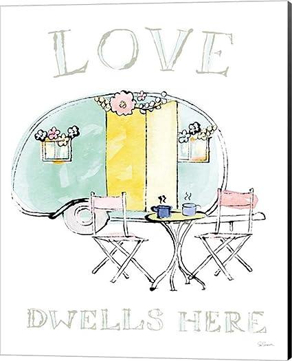 Amazon com: Girlfriends Cabin III Sue Schlabach Canvas Art Wall