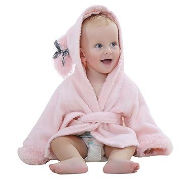 toalla de baño bebé – Toalla de baño con capucha Poncho niños niñas chicos albornoz de