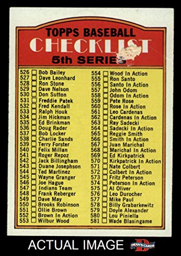Checklist Baseball Topps (1972 Topps # 478 LG Checklist 5 (Baseball Card) (Has Large Print & Shorter Red Space on Front) Dean's Cards 2 - GOOD)