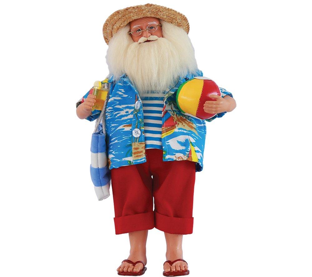 Santa's Workshop 8633 Beach Time Santa Figurine, 15''