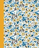 Journal: Field of Flowers (Yellow and Blue) 8x10 - LINED JOURNAL - Journal with lined pages - (Diary, Notebook) (8x10 Flowers Lined Journal Series)
