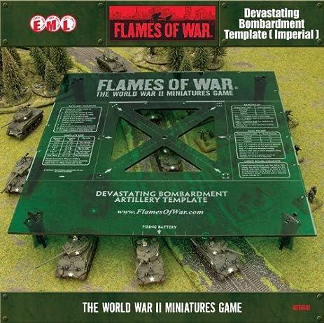 Amazon.com: Green Devastating Bombardment Template (Imperial): Toys ...
