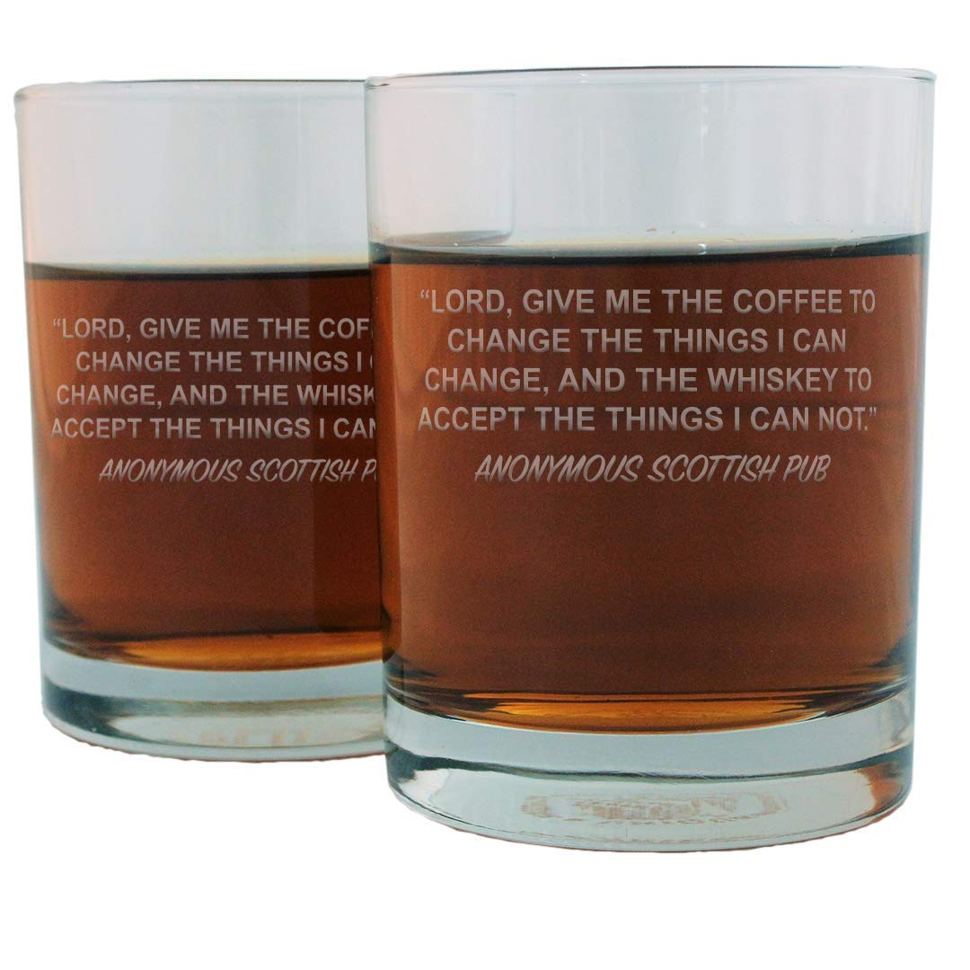 Scottish Pub Famous Quote Whisky Glass Set