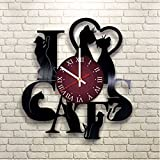 CATS Vinyl Record Wall Clock - Kids Room wall decor - Gift ideas for kids, girls, boys, teens - Cartoon Unique Art Design