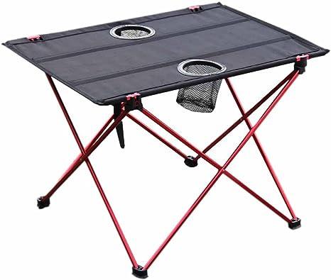 Mesa plegable de picnic para camping, portátil, compacta, ligera, plegable, en una bolsa, pequeña, ligera y fácil de transportar para camping, playa, ...