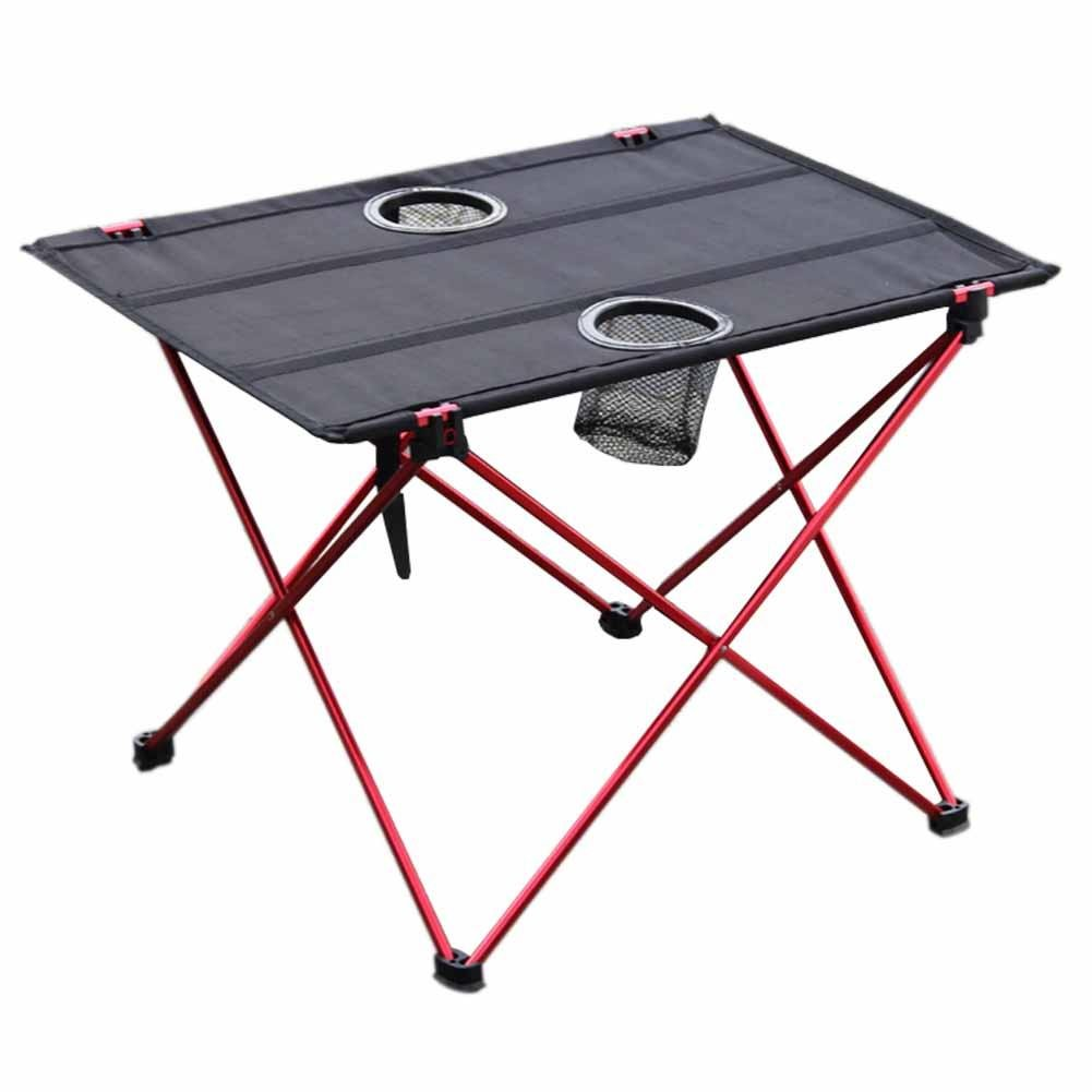 Dire-wolves Mesa Plegable de Camping Ligera Mesa Plegable con portavasos portátil Camp Mesa Ultraligera de aleación de Aluminio Mesa Plegable para Camping ...