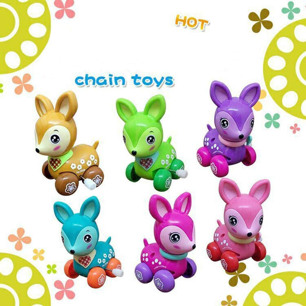 Kizaen 4Pcs Assorted Wind-up Toys Animals for Kids Party Favors Children's Birthdays Gifts