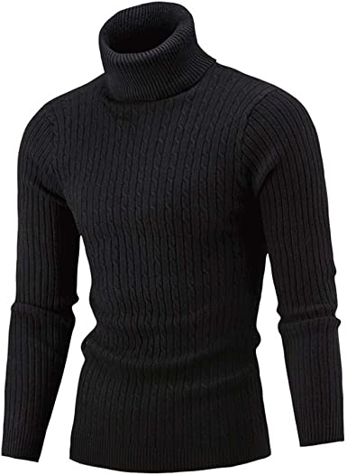 Casual Knitted Sweater Pullovers 2018 Winter Warm Mens Sweater Turtleneck