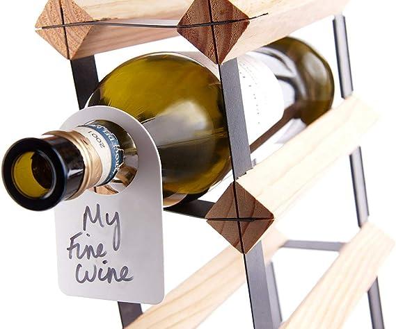 - By EUPOSIA Set da 24 pz Riutilizzabili Etichette da Cantina Collarini in Plastica per Identificazione Bottiglie Vino PLASTIC WINE TAG colore BIANCO