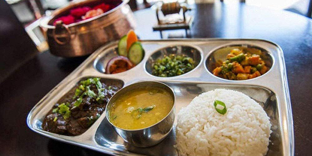 Shourya Trading Stainless Steel Rectangular Thali,Steel Five Compartment Rectangle Plate,Thali,Mess Tray,Dinner Plate,steel plate partition,thali Plate,stainless steel plates,indian dinner thali