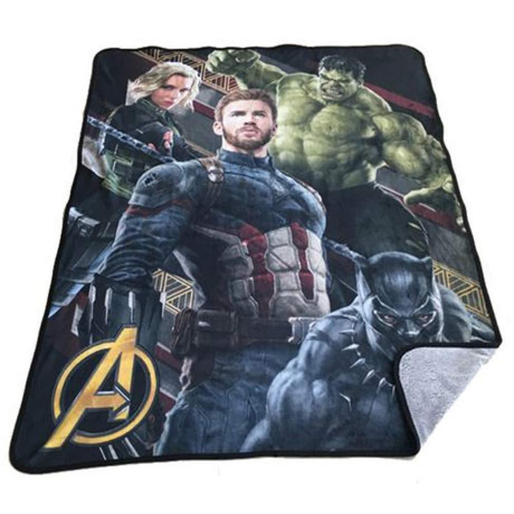 Marvel Avengers Super Plush Throw Blanket for Kids - 48 x 60 Inch [Infinity War] by Marvel