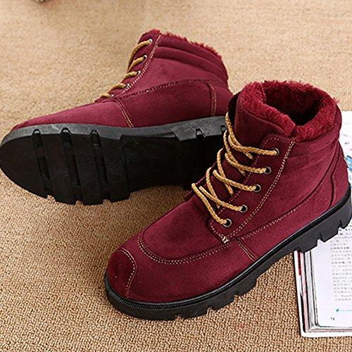XIE Martin Botas Botas Terciopelo brit de de Plus Zapatos de Mujer de Invierno Botas Nieve ra0rx