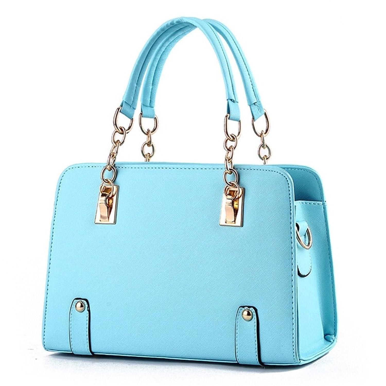 Generic Women Chain Design Purse Handbag Shoulder Bag (Sky Blue)