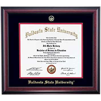 Amazon.com - Valdosta State Blazers Diploma Frame Black Red Matting ...
