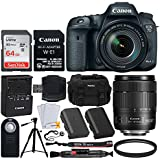 Canon EOS 7D Mark II DSLR Camera Body w/W-E1 Wi-Fi Adapter + EF-S 18-135mm f/3.5-5.6 IS USM Lens + 64GB Memory Card + LP-E6N Battery Replacement + DC59 Camera Case + 67mm UV Filter + Wireless Remote