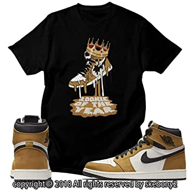 a5814869a46 Custom T Shirt Matching Style of AIR Jordan 1 Rookie of The Year JD 1-26-5  at Amazon Men's Clothing store: