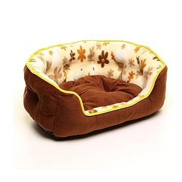 YQQ Cama Redonda para Mascotas Colchón para Casa De Perro Perrera Nido De Gato Teddy VIP Nest Suministros De Mascotas Saco De Dormir ...