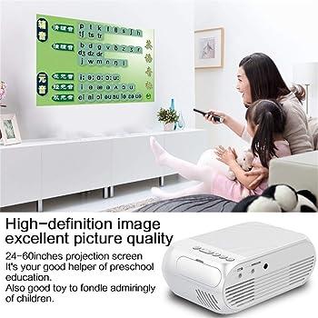 NIUQY Ausverkauf Proyector portátil diseño moda Mini 3D cine casa ...