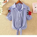 Embroidery Blouse Shirts Womens Crop Tos Floral Feminine Blouses Summer Plus Size Blusas Female Shirt