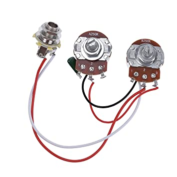 Amazon.com: Bass Wiring Harness Prewired Kit for Precision Bass ...