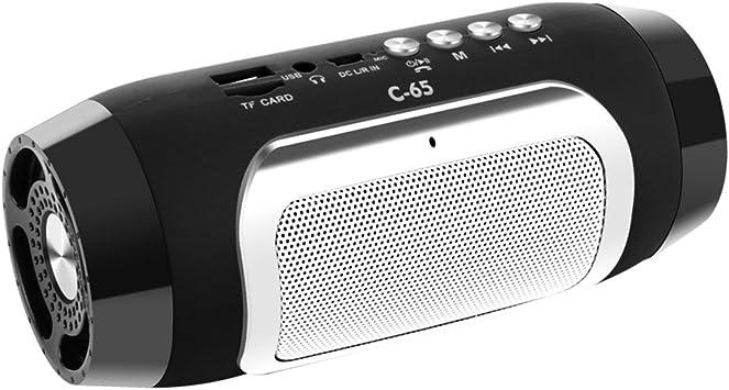 Altavoz Bluetooth Columnas Inalámbricas Colunas Altavoces para Ordenador Caixa De Som Soporte TF FM Radio Soundbar Altavoz,Black: Amazon.es: Deportes y aire libre