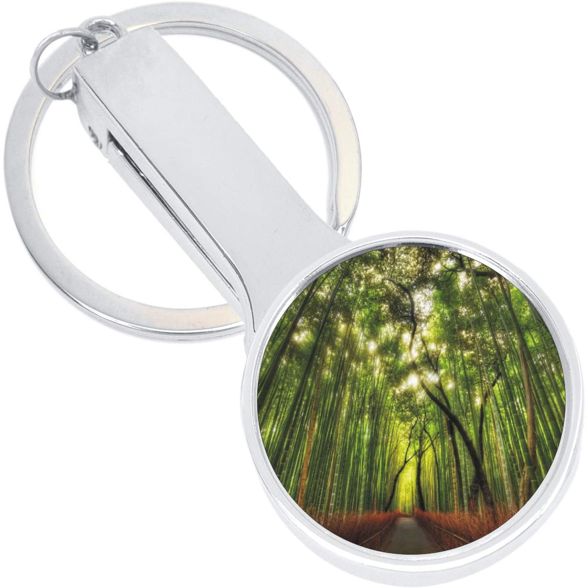 Bamboo Forest Japan Purse Hanger with Keychain