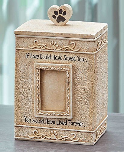 - The Lakeside Collection Sentimental Pet Urns- Cream