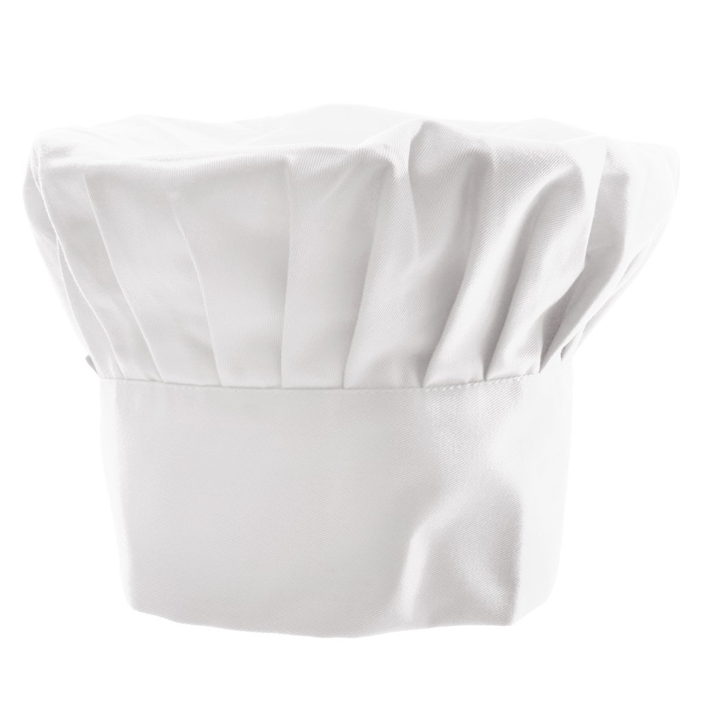 Toque de Cuisinier Adulte Chapeau de Costume Elastique Chef Boulanger