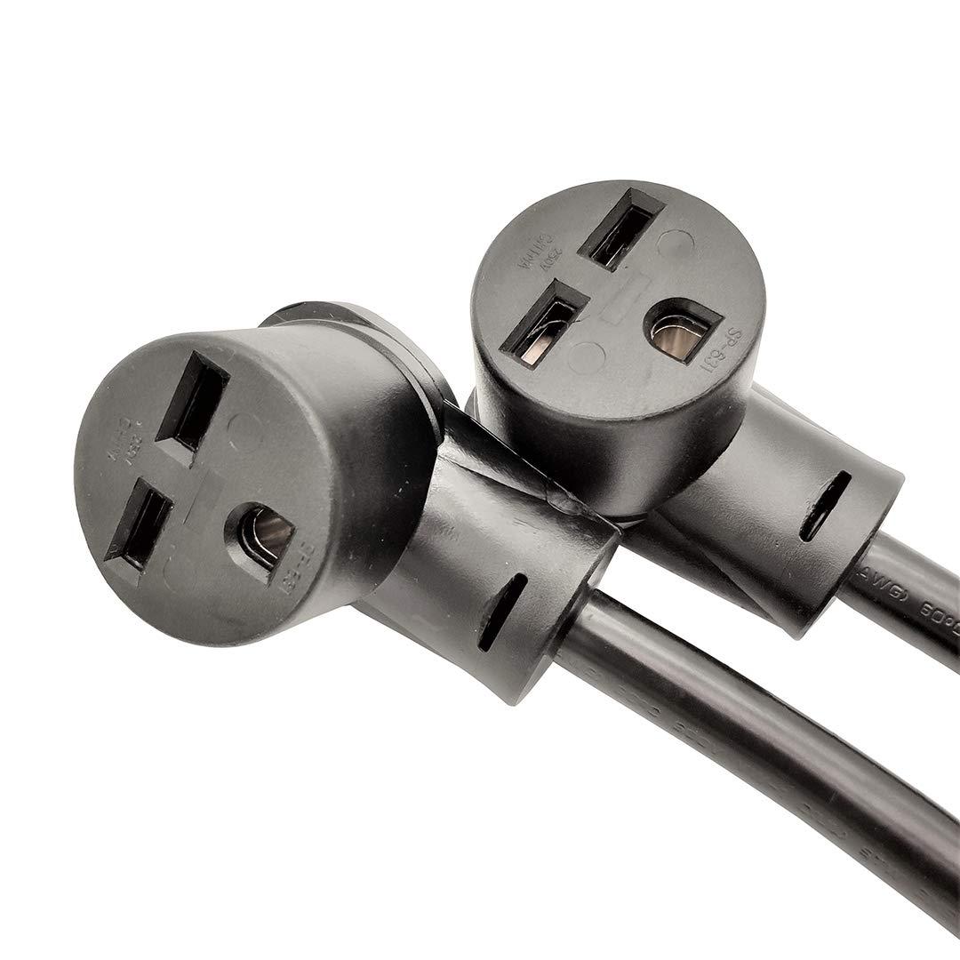 NEMA 6-30 Splitter Cord Adapter 2 feet Industrial Male Plug NEMA 6-30P to 2 Parkworld 61520 Welder 30A Splitter 6-30R Female Connectors