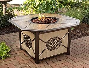 CC Outdoor Living - Chimenea de porcelana para exterior de jardín, estilo octogonal, de 109 cm