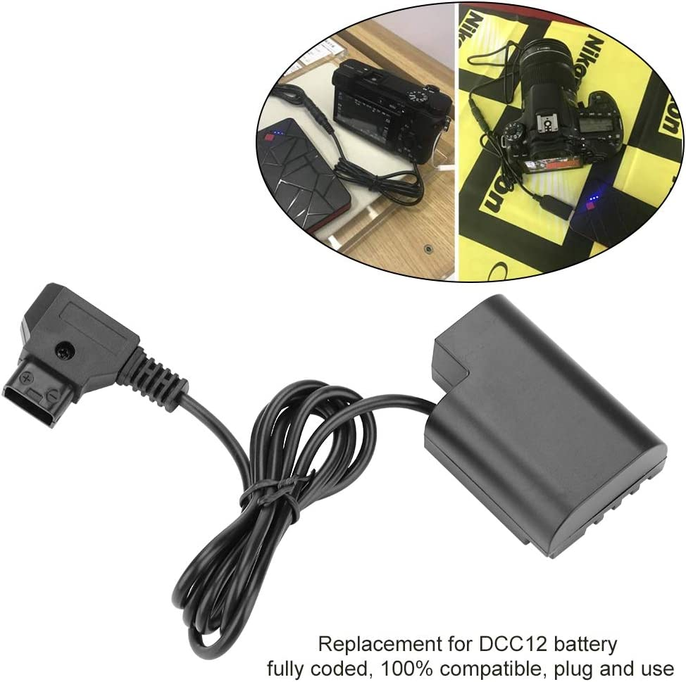 Acouto D-TAP to DMW-DCC12 Security Camera Coupler Cable Dummy Battery Adapter Converter for DMC-GH3