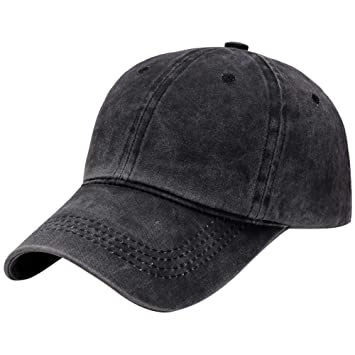 Men Casual Plain Washed Cap Style Cotton Adjustable Baseball Cap Blank Solid Hat