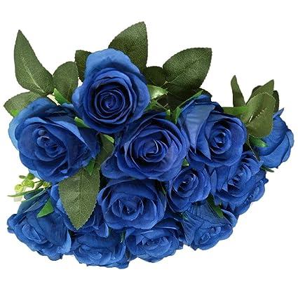 Buy Strieyas Artificial Fake Rose Silk Flower Bridal Bouquet